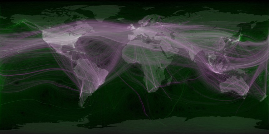 Twitter visualisation by Eric Fischer. Used under a CC-BY-2.0 licence.