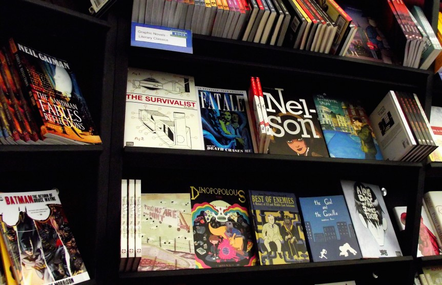 graphic novels by byronv2. Used under a CC-BY-NC-2.0 licence