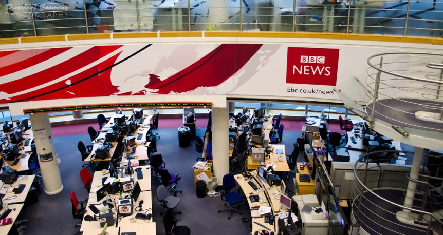 BBC newsroom by Dineshraj Goomany. Used under a CC-BY-SA-2.0 licence.